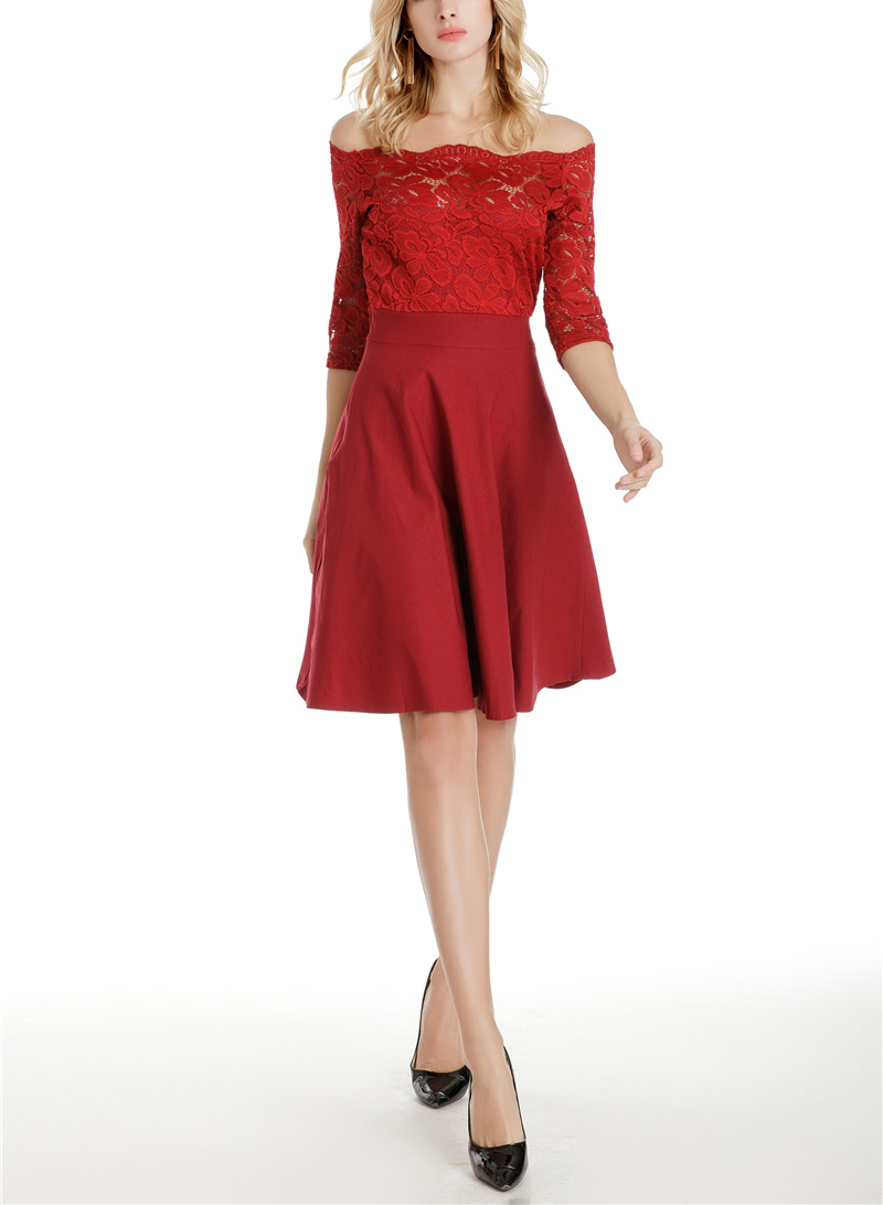 Cutaway Collar Lace Expansion Evening Dress – LULULIKE